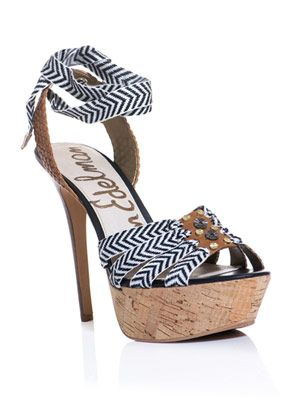 Mela striped embellished platform