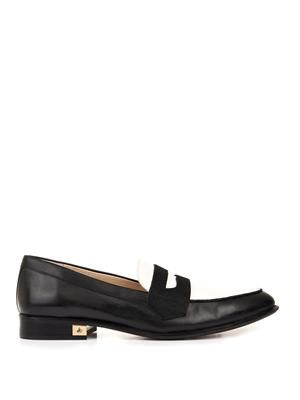 Bethanie bi-colour leather loafers