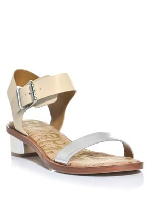 Two strap low heel sandals