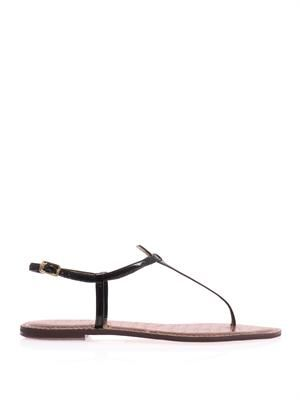 Gigi patent-leather sandals