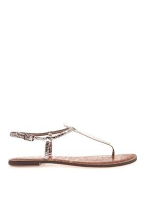 Gigi leather thong sandal