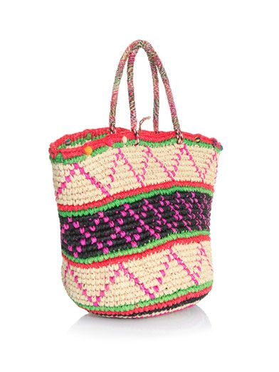 Sensi Studio Maxi tribal woven straw bag