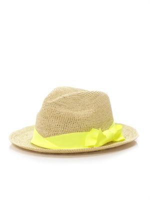 Panama twist-bow hat