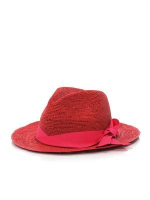 Panama twist-bow hat