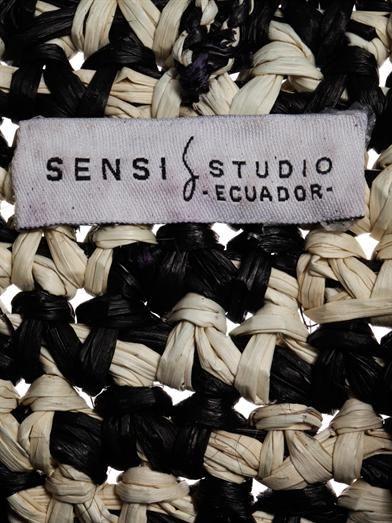 Sensi Studio Trinado woven straw tote