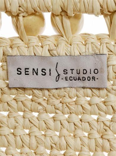 Sensi Studio Bead embellished basket tote