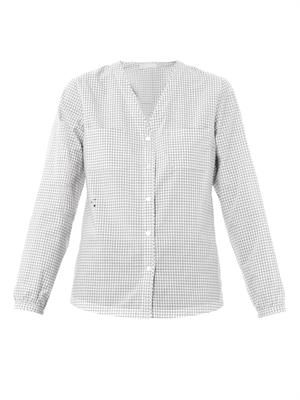 Mattia collarless cotton shirt