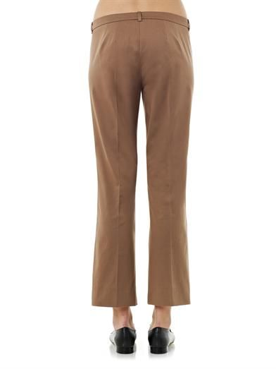 S Max Mara Thomas brown cotton-blend trousers