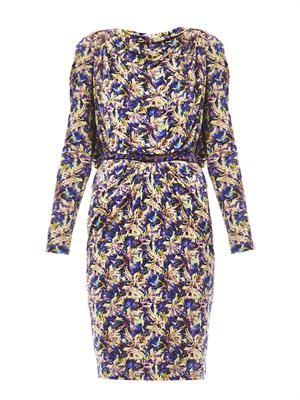 Frida flower bunch-print dress