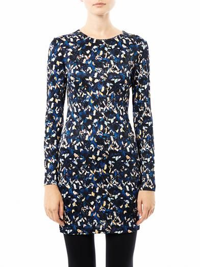 Saloni Iris-print Lula dress