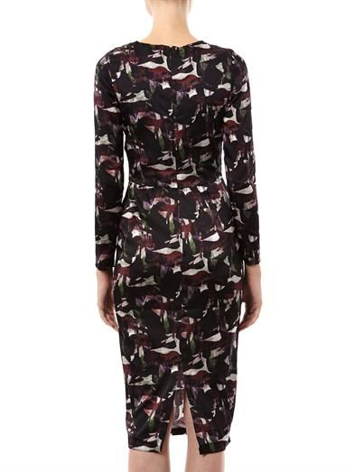 Saloni Marcel dahlia-print dress