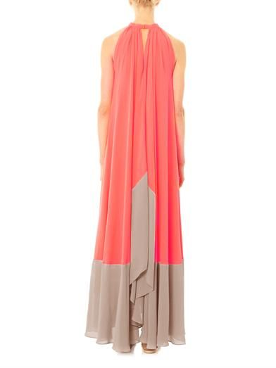 Saloni Iris bi-colour maxi dress