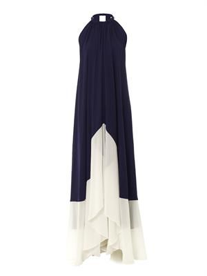 Iris bi-colour maxi dress