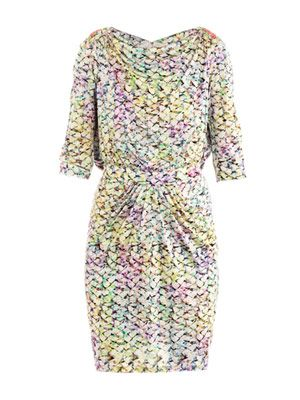 Frida pastel bloom-print dress