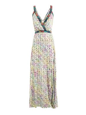 Ria pastel bloom-print dress