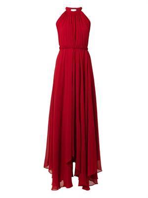 Irina halterneck chiffon gown
