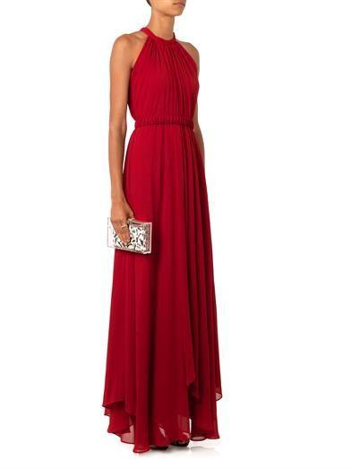 Saloni Irina halterneck chiffon gown