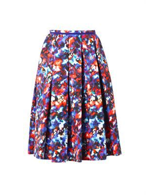 Bettina cosmic pansy-print midi skirt