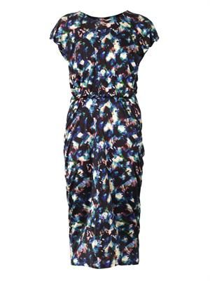 Apsara solar cloud-print dress