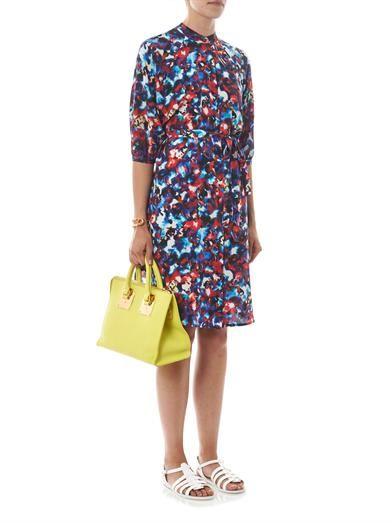 Saloni Jessabel floral-print silk dress