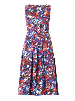 Lauren cosmic pansy-print dress