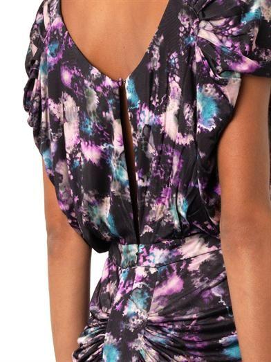 Saloni Apsara Cloudbreak-print dress
