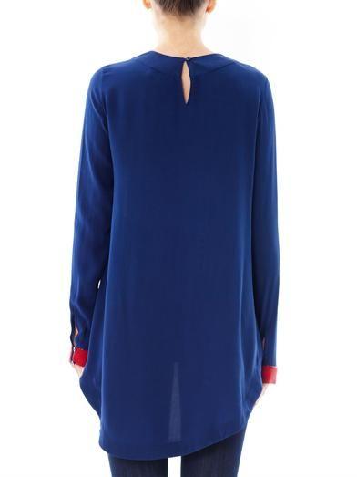 Saloni Bead embellished silk top