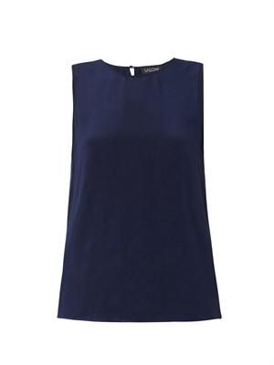 Harriet silk-crepe top