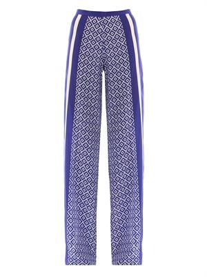 Sofia wide-leg silk trousers