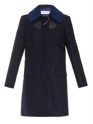 Contrast-collar duffle coat