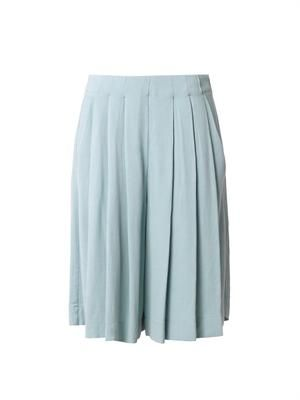 Pleated crepe culottes