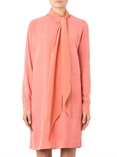 See by Chloé Brushed-crepe neck-tie dress