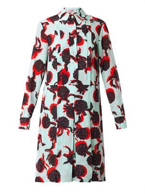 Artichoke-print shirt dress
