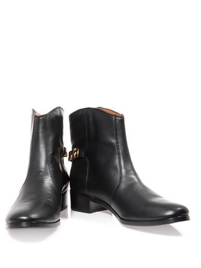 See by Chloé Chain detail leather ankle boots