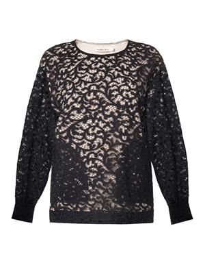 Lace long-sleeved top
