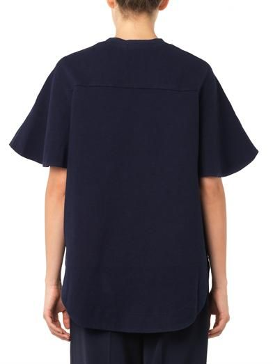 See by Chloé Jersey and chambray top