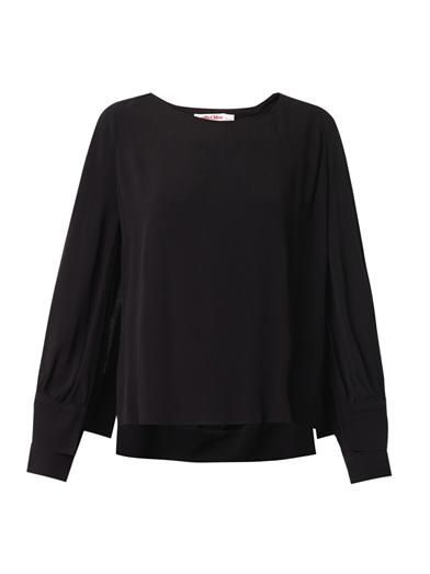See by Chloé Double-sleeve crepe blouse