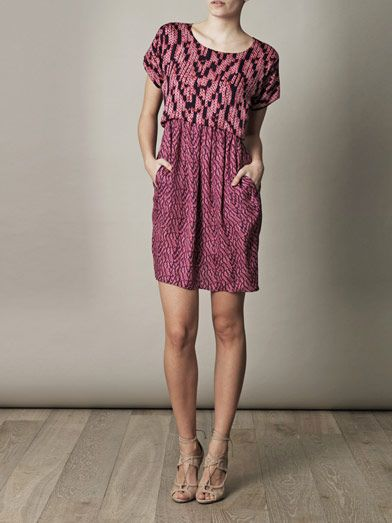 See by Chloé Knit-print silk dress