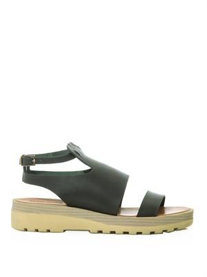 Heavy sole leather sandals