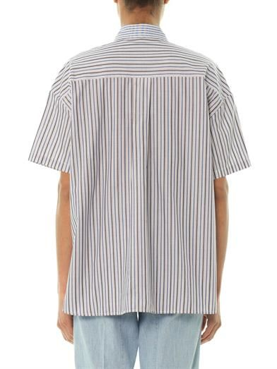 See by Chloé Striped cotton oversized shirt