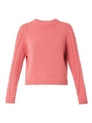 Wool-blend knit sweater