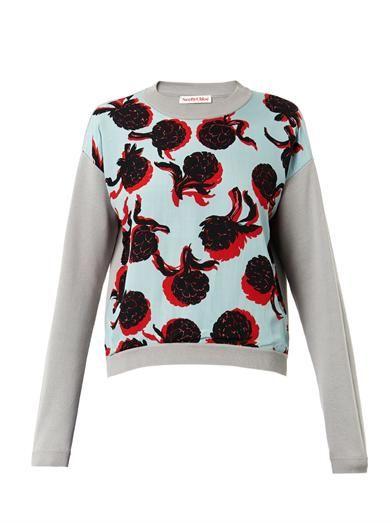 See by Chloé Artichoke-print cotton sweatshirt