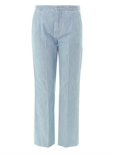 See by Chloé Chambray high-rise tailored trousers