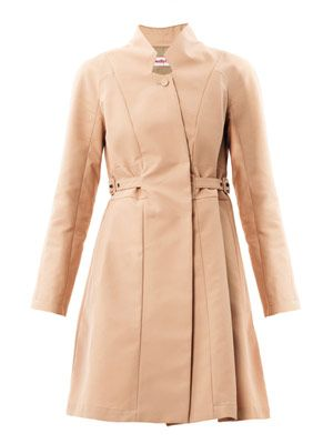 Full-skirted trench coat