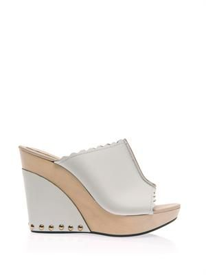 Wedge clog sandals