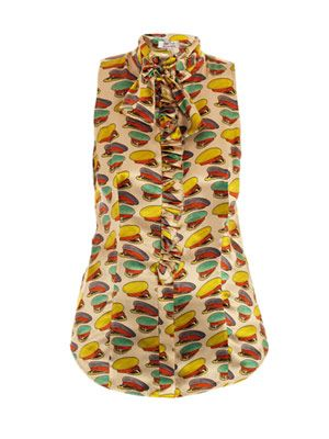 Hats Off printed blouse