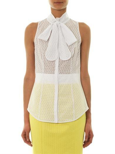 L'Wren Scott Floral devoré bow-neck blouse