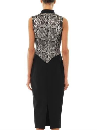 L'Wren Scott Lace panel wool-blend dress