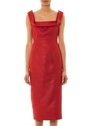 L'Wren Scott Bento Box lacquered tweed dress