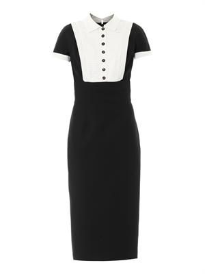 Headmistress wool-blend dress